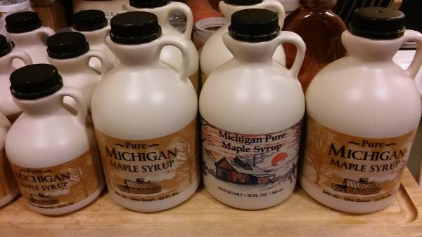 Michigan Maple Syrup ready for shipping.