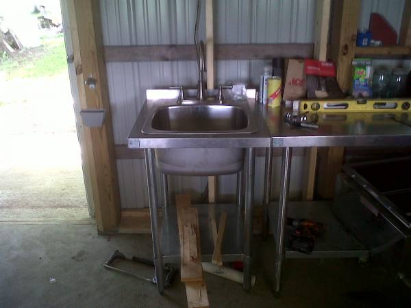 RetroFit a Sink Into a SS 2x2 Table