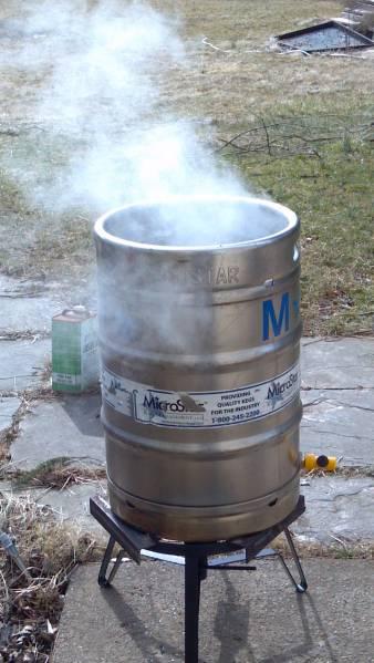 beer keg evaporator