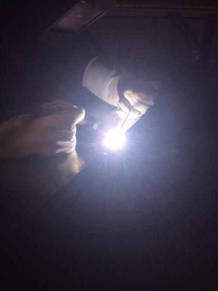 "TIG welding custom 20""x40"" flat pan"